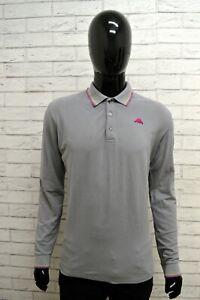 Polo-Uomo-KAPPA-Taglia-Size-L-Maglia-Maglietta-Camicia-Shirt-Man-Cotone-Grigio