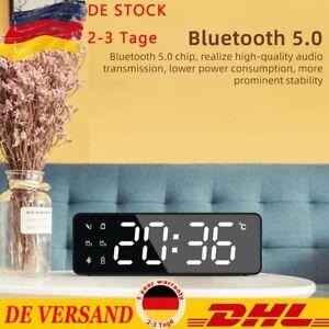 Digital Radiowecker mit Projektion Uhrenradio Schlummer Alarm Tischuhr Geschenk