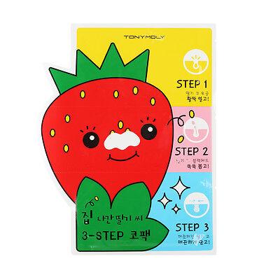 [TONYMOLY] Mr.Strawberry 3-STEP Nose Pack 6g [RUBYRUBYSTORE]