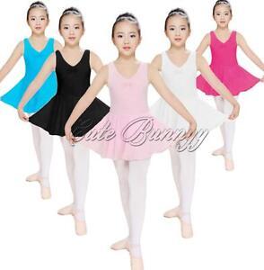 New Girls Kid Ballet Leotard Unitard Tutu Dance Dress Skating Dancewear SZ 2-14Y