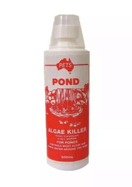 Fish Pond Water Treatment Pets Pond Algae Killer 500ml 5.0g/L Dioron New