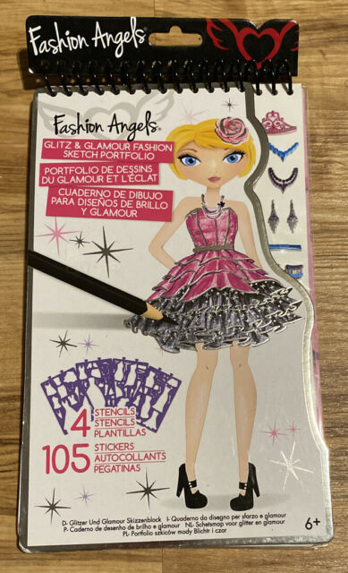 Fashion Angels Glitz Glamour Fashion Sketch Portfolio For Girls D20 For Sale Online
