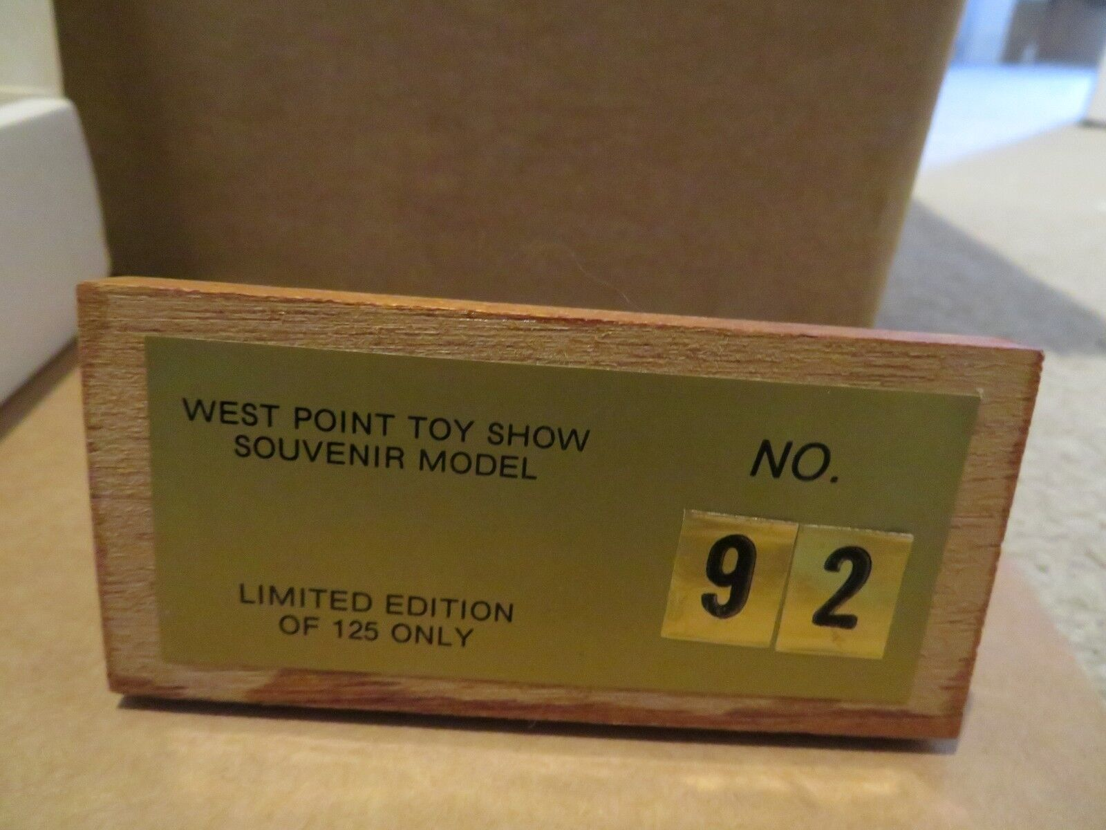 RARE LLedo USA West West West Point Toy Show Souvenir Model June 22 1986 Limited Edition 11bec3