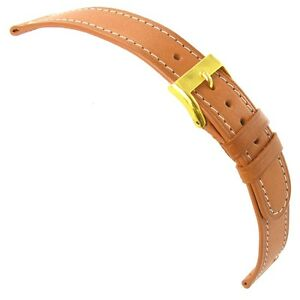 19mm-Speidel-Western-Genuine-Leather-Tan-White-Stitched-Round-Edge-Watch-Band