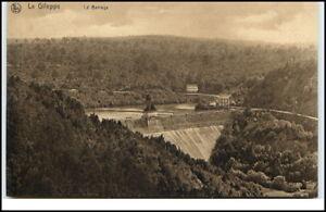La-Gileppe-Belgien-Postkarte-Carte-postale-1920-30-Gileppe-Talsperre-Panorama