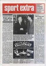 Länderspiel 19.12.1990 Deutschland - Schweiz in Stuttgart (sport extra)