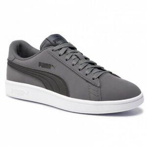 Dettagli su Scarpe da uomo Puma Smash V2 Buck 365160 08 grigio nero sneakers sportiva casual