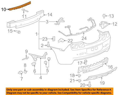 Chevrolet GM OEM 10-13 Camaro Rear Bumper-Upper Support 92237347