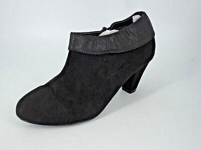 df1c96b59e3 Evans Black Ankle Boots EEE Fit UK 10 EU 44 LN092 AD 02 ...