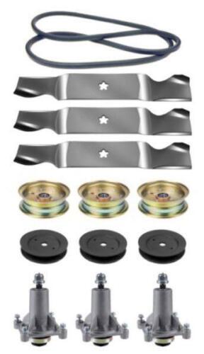 "Husqvarna MZ 5424 SR 54/"" Mower Deck Parts Kit Spindles Blades Belt FREE Shipping"