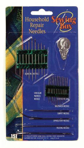 Marca nueva mano doméstica agujas de coser herramienta de reparación de calzado y Kit con 26 piezas