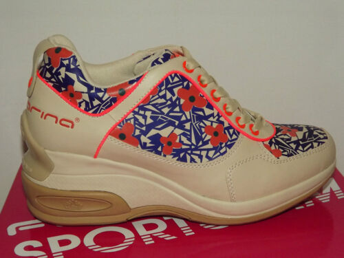 40 Stampa Scarpe Sneakers 39 Daily Chic Fornarina Sportglam Beige Fiori Fitness 71qfgn