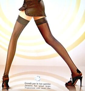 STOCKINGS-VARIOUS-SIZES-BACK-SEAM-FLORAL-HEEL-SEXY-LADIES-LACE-HOLD-UPS-20-DEN