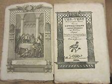 GRESSET VER-VERT LUTRIN VIVANT CAREME IMPROMPTU 5 GRAVURES DE MONNET 1832 POESIE