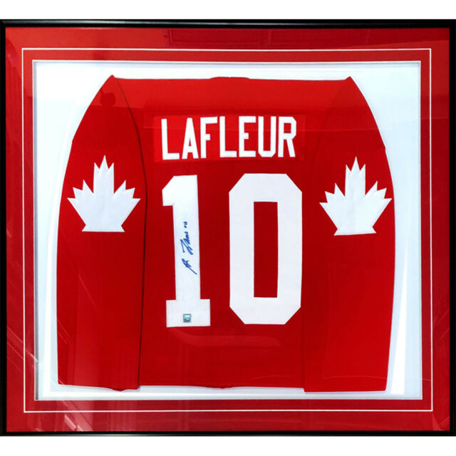 Guy Lafleur Framed Autographed 1976 Team Canada Jersey