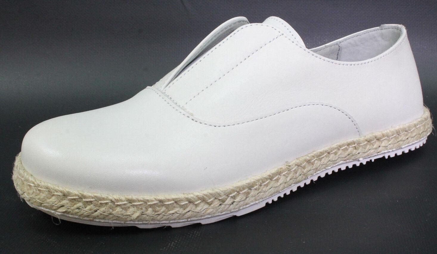 Shoot Damen Slipper Schuhe Sh-150080ff Leder Halbschuhe Schlupfschuhe Gr.38 Weiß