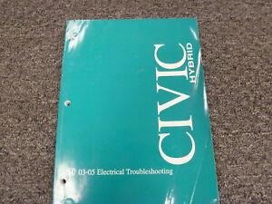 2003 2005 Honda Civic Hybrid Electrical Wiring Diagrams Diagnosis Manual 2004 Ebay