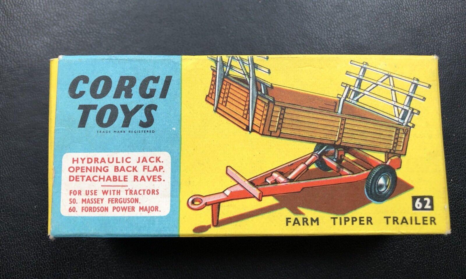 Corgi 62 farm tipper wohnwagen geboxt