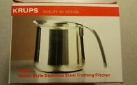 Krups 20oz Stainless Steel Replacement Frothing Pitcher Espresso Cappuccino