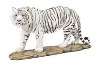 "12"" White Tiger Statue Figurine Safari Wildlife Wild Cat Animal Figure Cubs"