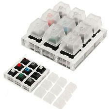 Acrylic Keyboard Clear Keycaps FOR Cherry MX Switches Rubber Sampler Tester Kit