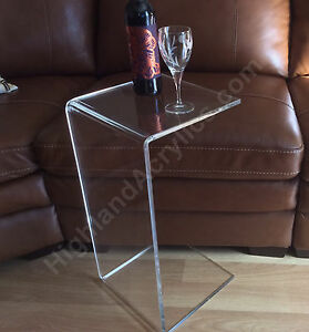 CTable Clear Acrylic Lucite Plexiglass END SIDE TABLE High - 26 high end table