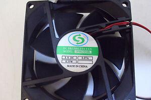 Brand-New-80mm-x-25mm-Fan-4-Pin-Molex-Connector-14-039-leads-DF0802505FEL