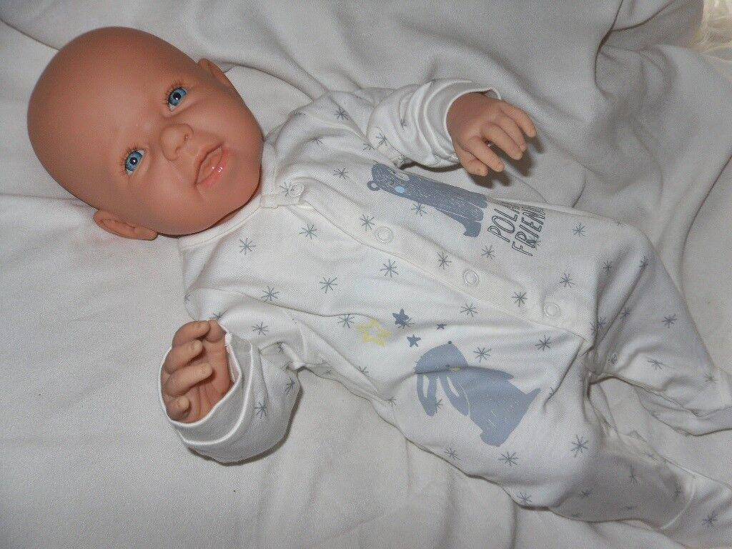 Traumdolls Antonio Juan Babypuppe Dustin mit Schnuller Spielpuppe Baby Baby Baby Puppen 85df8b
