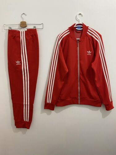 Adidas Originals Superstar Tracksuit Red White Siz