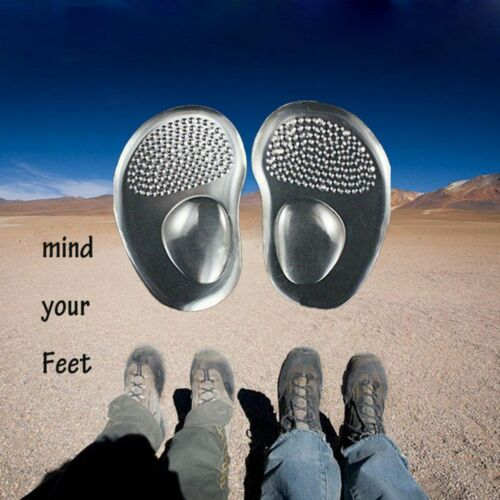Sole Metatarsal Ball Pads 1 Pair Comfy Insert Cushion Insoles Silicone Foot