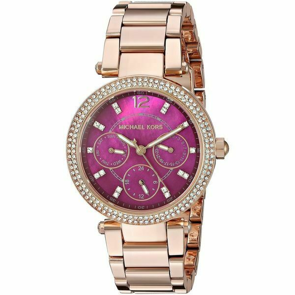 purple michael kors watch