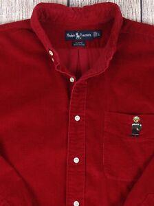 e536e65f269 Vintage Ralph Lauren Blaire Men s Corduroy Dress Shirt Large Red ...