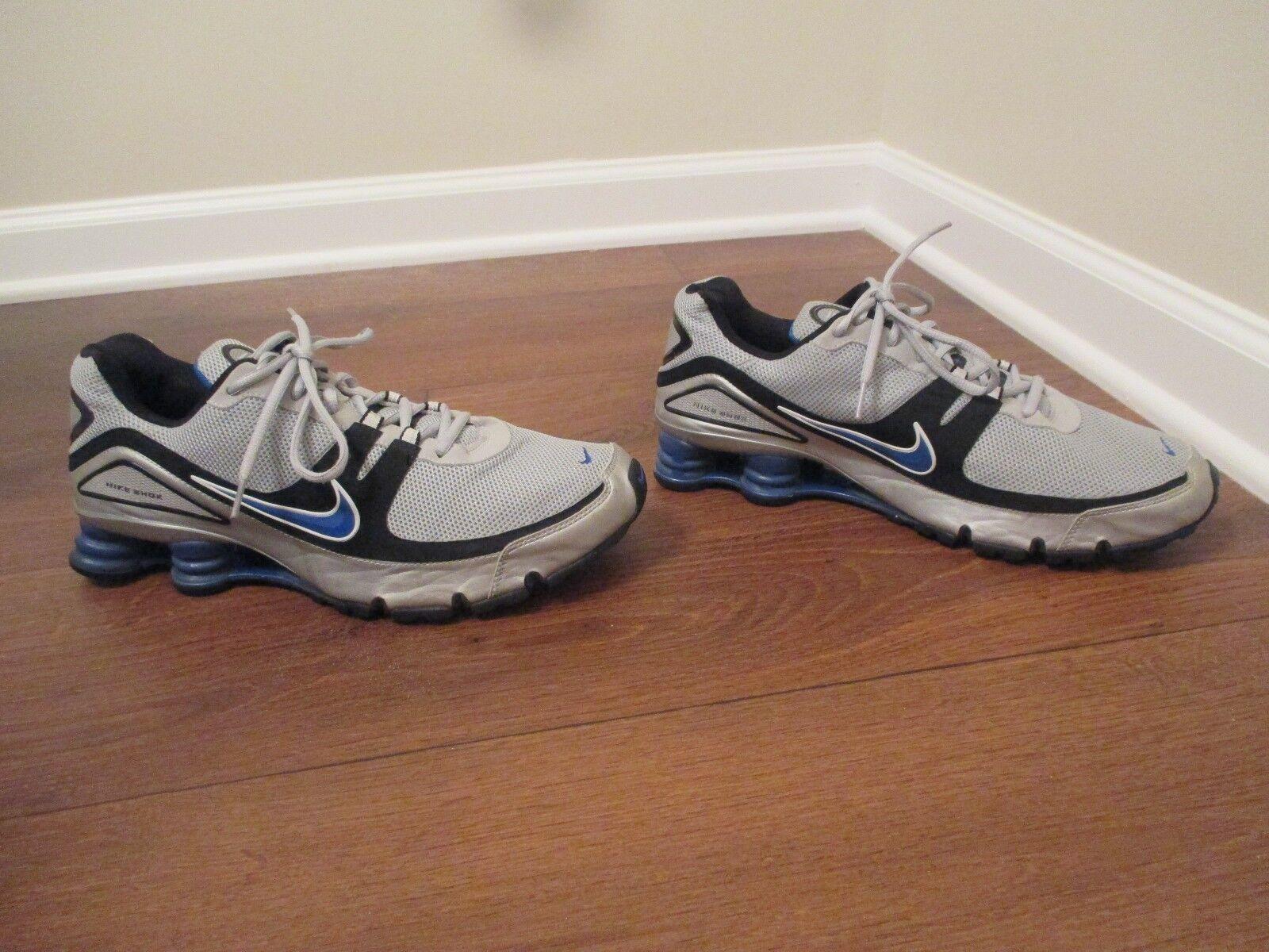 Usado Shox usado talla 12 nike Shox Usado NZ turbo V zapatos gris plata negro azul d1fac5