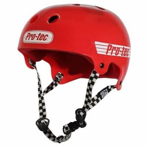 Protec Bucky Skate Helmet Solid Red Size Small Skate Scooter Pro-Tec