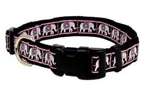 Douglas-Paquette-ELEPHANT-Nylon-amp-Ribbon-Adjustable-Dog-Toy-Collar
