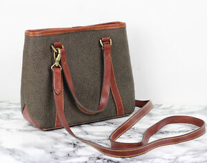 2eba8f3bf92 Image is loading MULBERRY-Vintage-Tote-Olive-Brown-Scotchgrain-Small-Saddle-