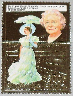 Afrika Süß GehäRtet Burkina Faso 1985 1017 A 706a Queen Mother 85th Birthday Royals Gold Foil Mnh Briefmarken