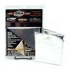 """DEI 010462 Reflect-A-Cool Thermal Heat Barrier 24/"""" x 24/"""" Sheet Fiberglass /& Foil"""