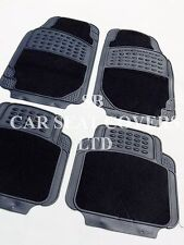 i - TO FIT A RENAULT LAGUNA CAR, DELUXE CAR FLR MATS, 2210 BLACK - 4 PIECE SET