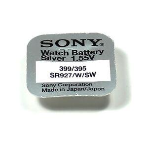 SONY 1 Pile  395 399 oxyde d'Argent SR927SW SR57 SR927 AG7 LR57 1.55V