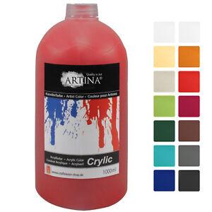 Acrylfarben-1000-ml-Malfarbe-Acrylfarbe-Kuenstlerfarbe-Farbe-Malen-Tuben-Kuenstler