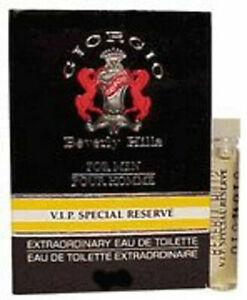 20 Pcs Giorgio Beverly Hills Extraordinary VIP Special Reserve 1 ml EDT (M) NIB