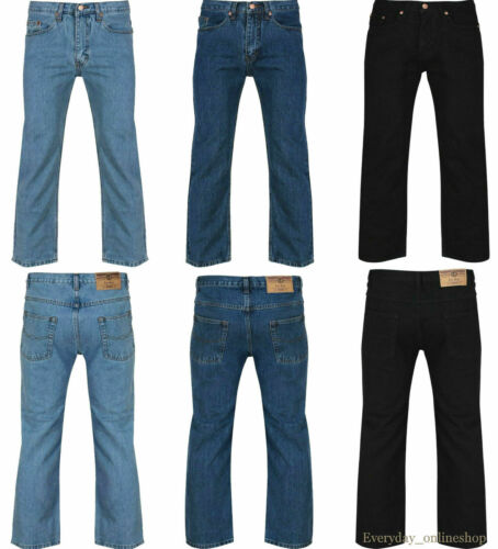 """NEW MENS CASUAL DENIM JEANS STRAIGHT LEG WORK BRANDED FASHION SIZE 30/""""to50/"""""""