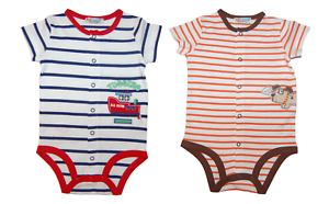 Baby Boys Bodysuit Playsuit All-in-One Outfit 100/% Cotton Age 3 6 9 12 18 Months