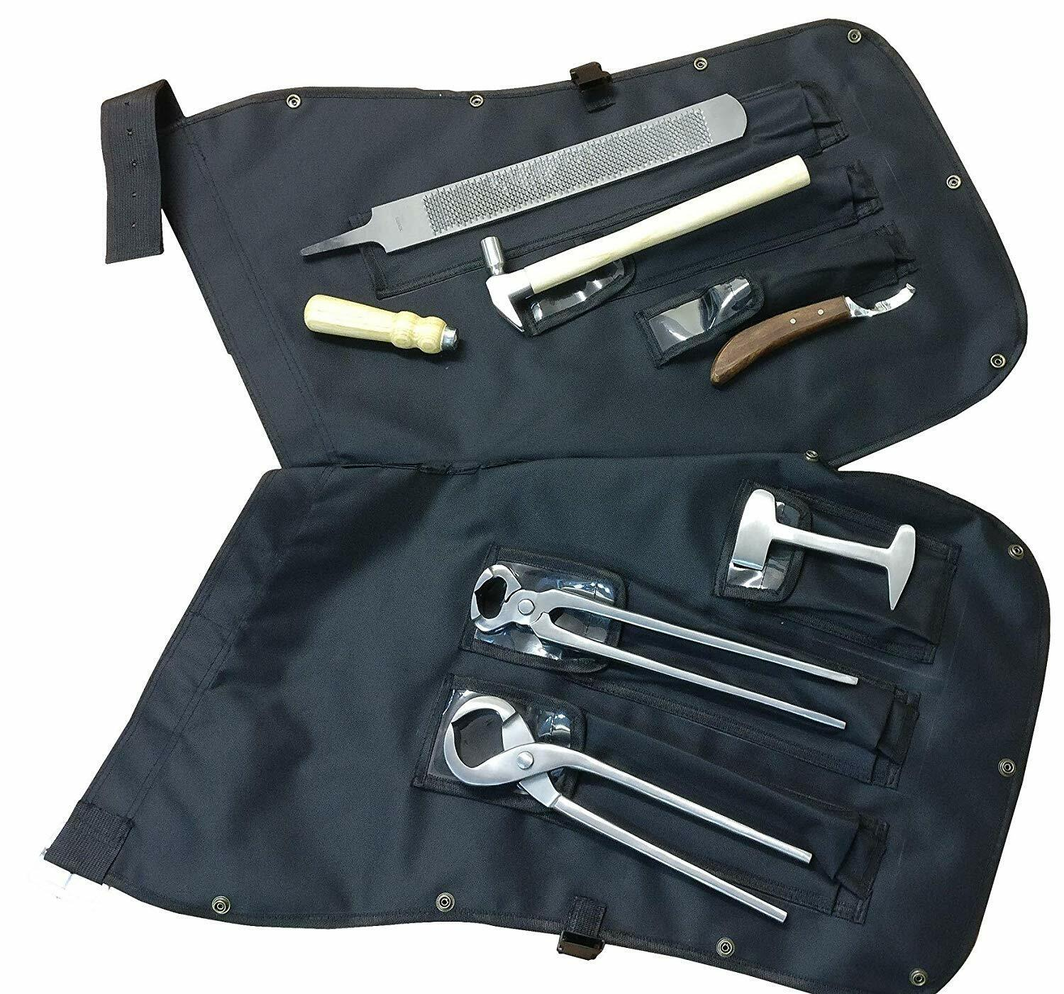 Farrier Hoof Kit Instruments with Chaps Wallet  Two in One Bag Specs EQUINOX