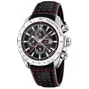Festina F20440-4 Men's Black Strap Chronograph Wristwatch