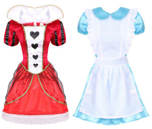 LADIES-WONDERLAND-COSTUMES-ALICE-QUEEN-OF-HEARTS-QUALITY-BOOK-DAY-FANCY-DRESS