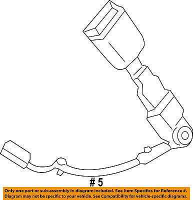 FORD OEM 12-14 Focus Front Seat Belt-Buckle Left BM5Z9961203BA