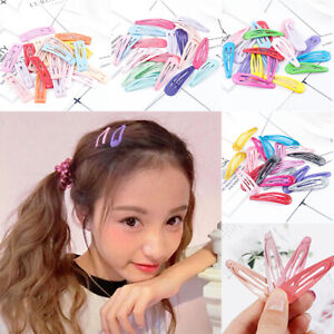 20pcs 5cm Snap Hair Clips for Hair Clip Pins BB Hairpin Color Metal Barrettes Vy