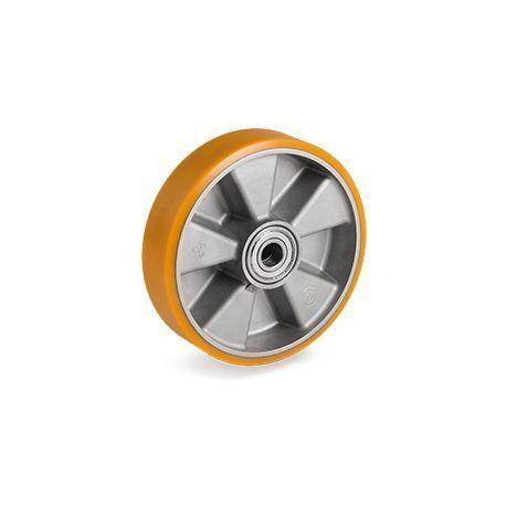 Roue polyuréthane jante aluminium 125 x 40 LM45 450 AL20 charge 450 LM45 Kg 039925